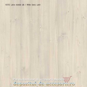 PAL Melaminat Larice Elvețian alb H3755-ST22