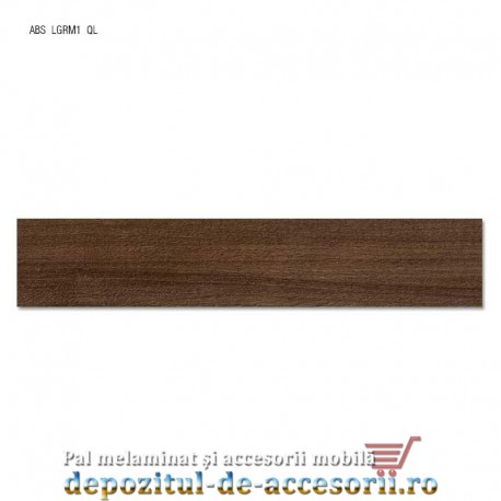 Cant ABS Nuc Pacific tabac 22mm x 0,4mm. Compatibil cu PAL Melaminat Nuc Pacific tabac H3702 ST10 Egger