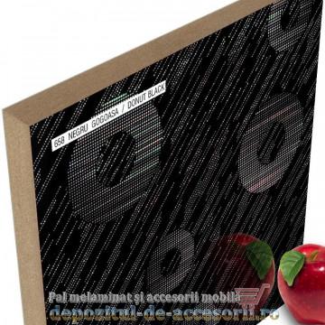 Panou MDF Negru gogoașă 658 super lucios AGT high gloss