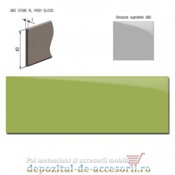 Cant ABS Verde lămâie 43mm x 1mm super lucios (High gloss)
