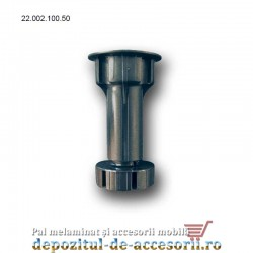 Picior plastic bucătărie H100 negru 22.002.100.50