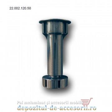 Picior plastic bucătărie H120 negru