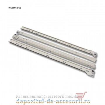 Glisiere cu role 500mm albe extragere parțială Blum 230M5000