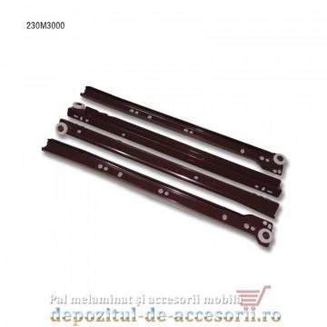 Glisiere cu role 300mm maro extragere parțială Blum 230M3000