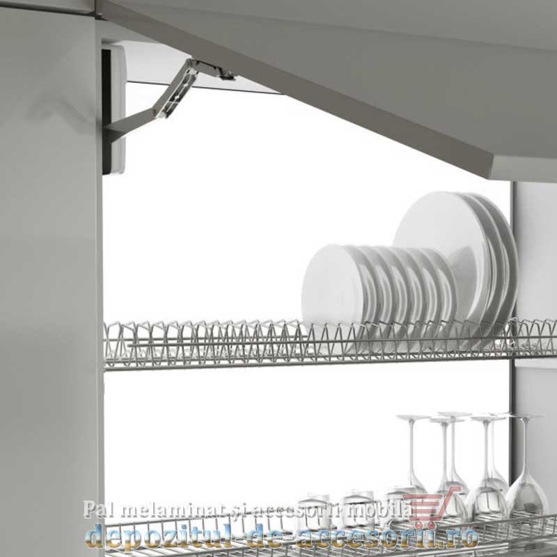 Picurător Scurgător vase cu ramă AL 800mm gri - montat