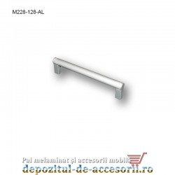 Mâner mobilier Aluminiu M228-128-AL
