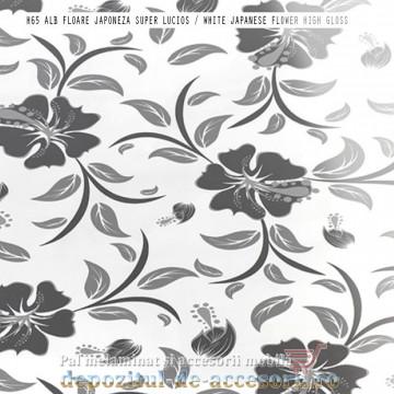Panou MDF Alb floare japoneză H65 super lucios Isik Beyaz japon cicegi high gloss
