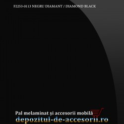 Panou MDF Acrilic Negru diamant super lucios Unilin high gloss
