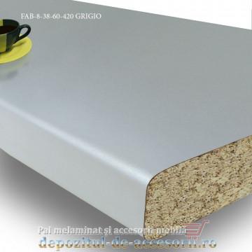 Mai multe despre Blat de bucătărie Grigio mat 38x600x4200mm FAB Grup