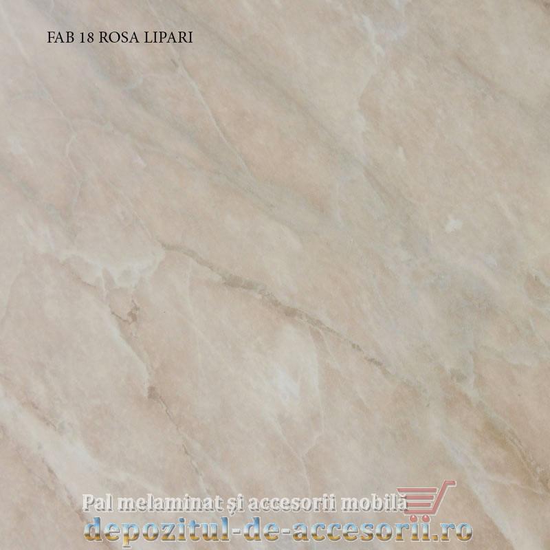 Blat de bucatarie lucios ROSA LIPARI dimensiuni 28x800x4200mm FAB 18 FAB Grup