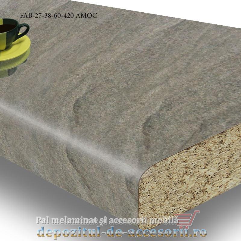 Blat de bucatarie lucios AMOC dimensiuni 38x600x4200mm FAB 27