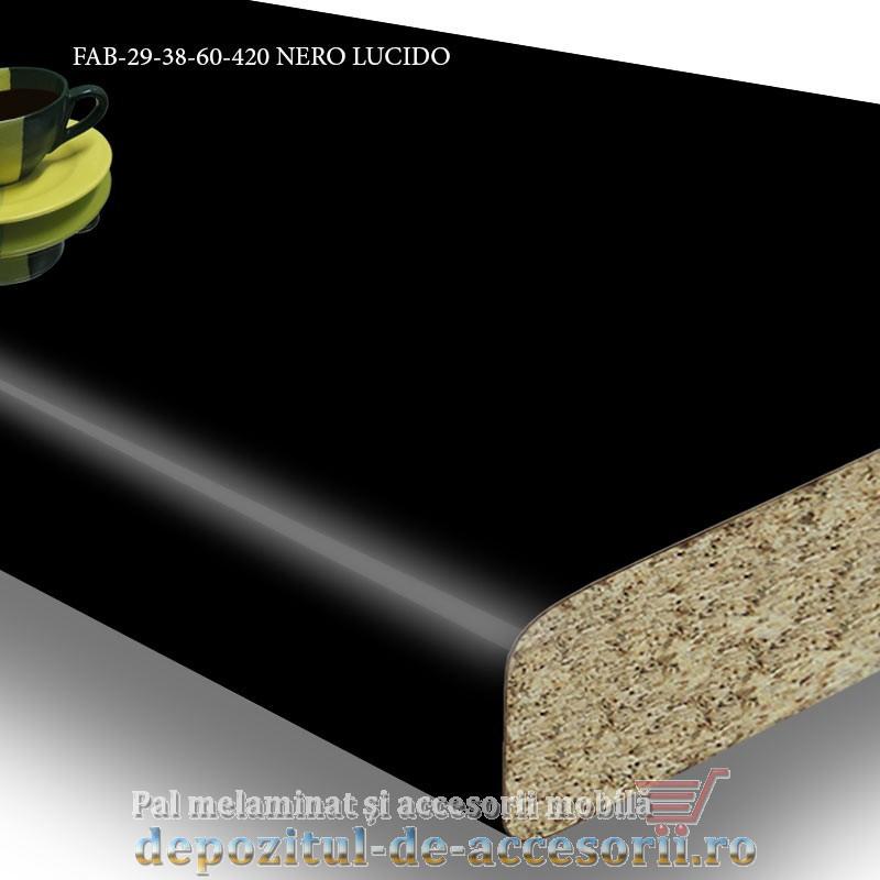 Blat de bucatarie lucios NERO LUCIDO dimensiuni 38x600x4200mm FAB Grup FAB 29