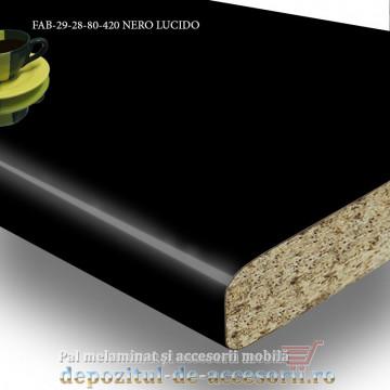 Blat de bucătărie NERO LUCIDO 28x800x4200mm FAB Grup