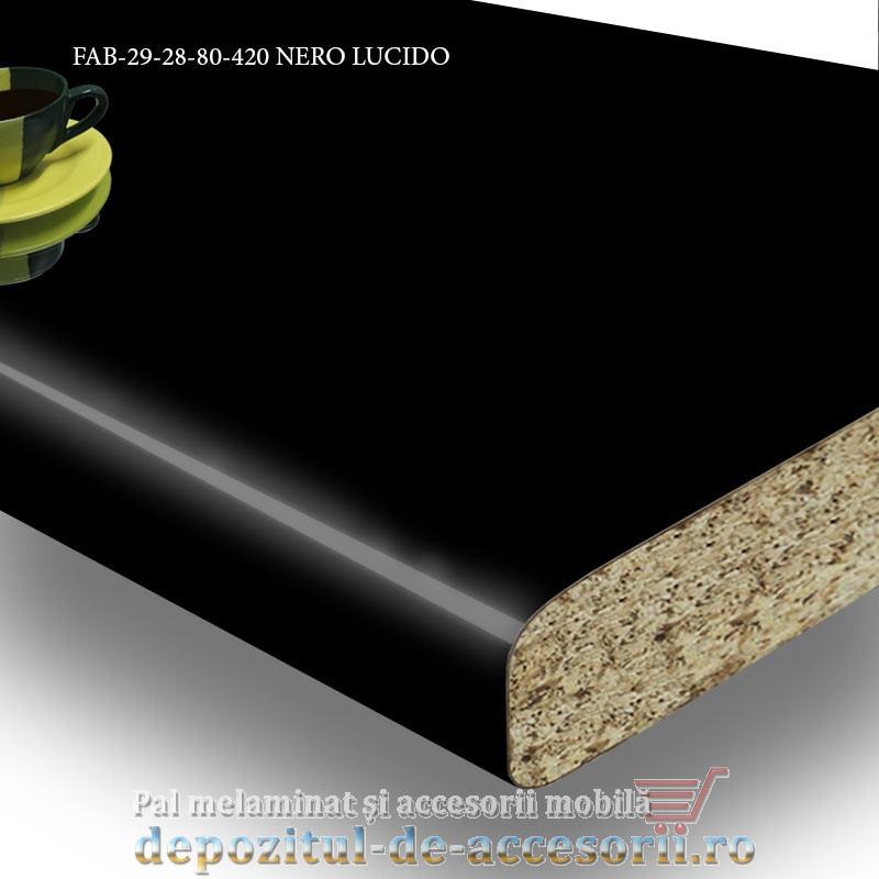 Blat de bucatarie lucios NERO LUCIDO dimensiuni 28x800x4200mm FAB Grup FAB 29