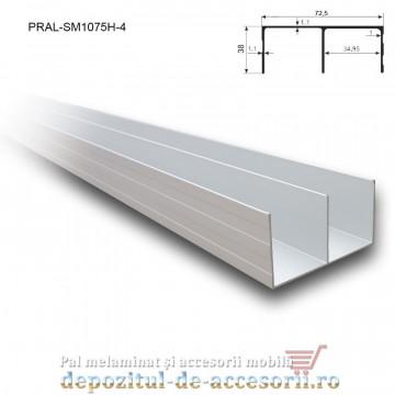 Sina dubla superioara pentru SKM250 lungimea 4m aluminiu