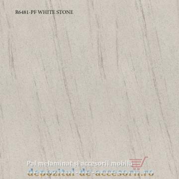 Blat de bucatarie mat WHITE STONE 28x600x4200mm Pfleiderer R6481-PF