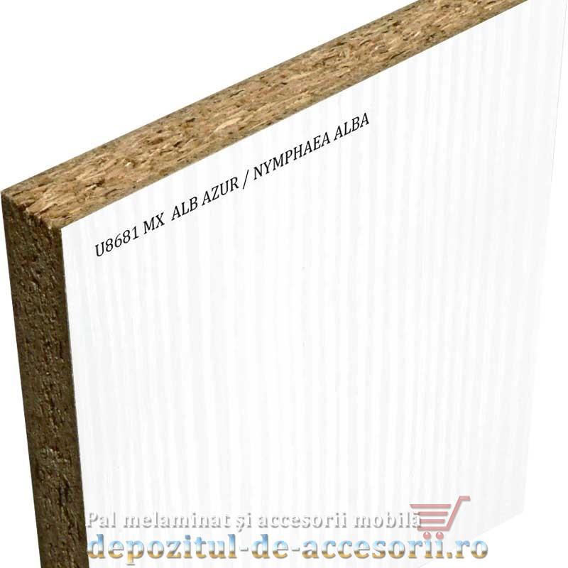 PAL Melaminat Alb azur (Nymphaea Alba) U8681 MX 18mm