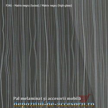 PAL Melaminat Matrix negru F241 lucios