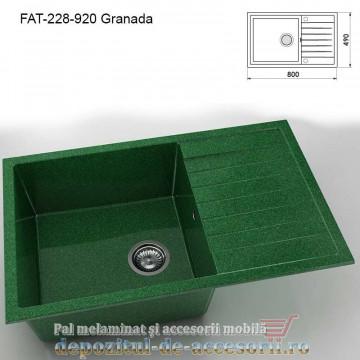 Chiuveta cu o cuva Granixit compozit 228-920 Granada 800x490mm