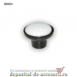 Buton antichizat ceramic alb B8904 Ø32mm