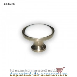 Buton antichizat ceramic alb SD6256 Ø32mm