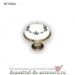 Buton antichizat ceramic auriu B7103AU 25mm