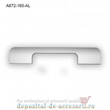 Mâner mobilier Aluminiu A672-160-AL Satinat