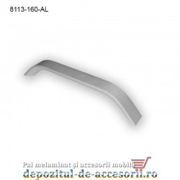 Mâner mobilier Aluminiu M8113-128-AL Satinat