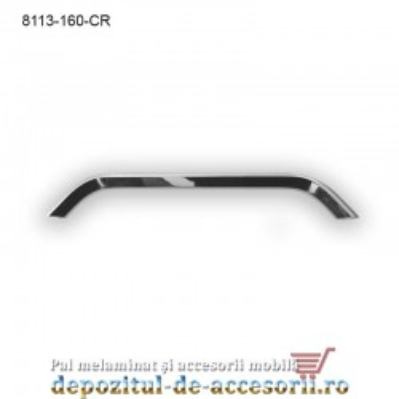 Maner mobilier Aluminiu M8113-160-CR Cromat