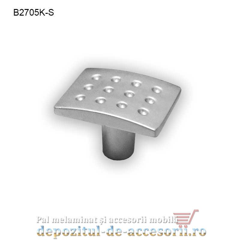 Buton metalic mobilier B2705K satinat