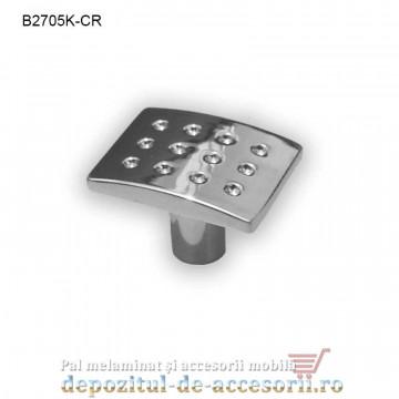 Buton metalic mobilier B2705K-CR cromat