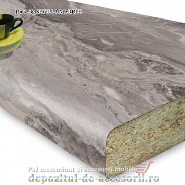 Blat bucatarie SEVILLA MARBLE 1064-SQ 38x600x4100 Krono Swiss