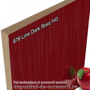 Panou MDF Line Dark Rose super lucios 676 AGT HG